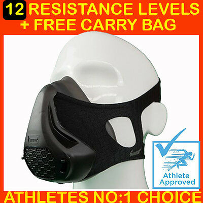 Ultra Pro Training Mask -12 Level Resistance + Free Carry Bag.