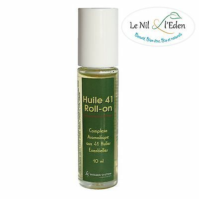 Vitamin System - Roll-On Aux 41 Huiles Essentielles - 10ml (huile 41)