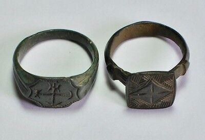 Lot of 2 Roman Bronze Rings