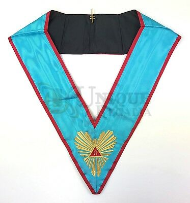 High Quality Masonic Memphis Misraim Officer's collar Machine embroided