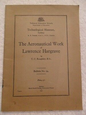 THE AERONAUTICAL WORK of LAWRENCE HARGRAVE 1937 Vintage Collectable