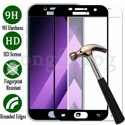 Samsung Galaxy A3 A5 A7 Full Cover 9H Tempered Glass Screen Protector Film New