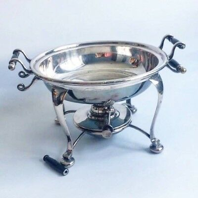 Antique Silver Plated Food Warmer With Burner