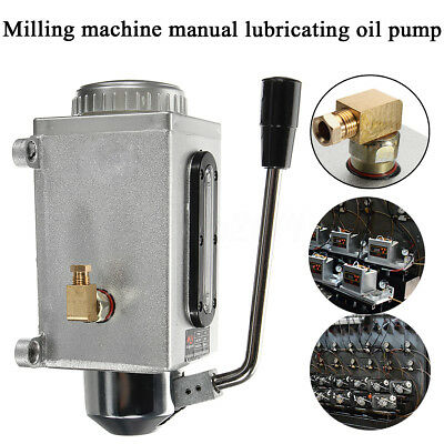 Y-8 Lubricating Manual Oil Pump Hand Lubrication 0.5L CNC 6mm Double outlet port