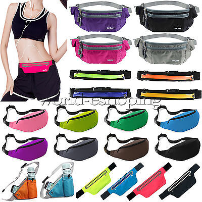 Running Waist Pouch Bag Fanny Pack Running Jogging Belt Zipper Bum Bag Sportwear
