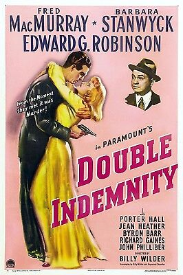 DOUBLE INDEMNITY VINTAGE MOVIE POSTER FILM A4 A3 A2 A1 PRINT ART CINEMA