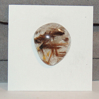 Golden Rutilated Quartz Cabochon 20.5x18mm with 5mm dome (12574)