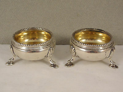Good Pair Victorian Silver Small CAULDRON SALTS. Hallmarked London 1871