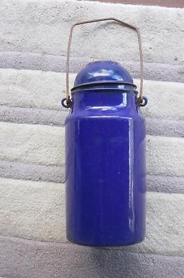 QR Queensland Rail Guards Blue Enamel Tea Flask