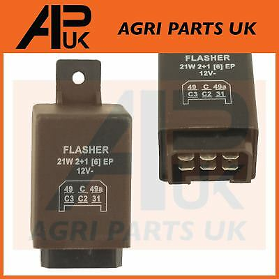 Flasher Indicator Unit Relay Massey Ferguson Ford New Holland John Deere Tractor