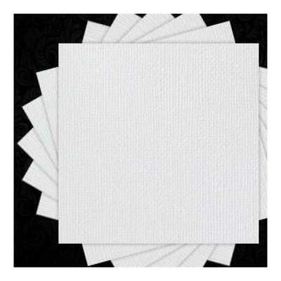 NEW American Crafts - 12X12 Premium Textured Cardstock - White - 10 Sheets