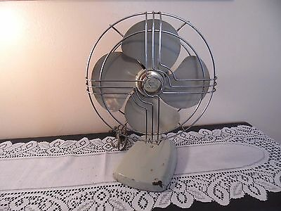 Antique Industrial Metal Fan Knapp Monarch Jack Frost Atomic Retro Home Decor
