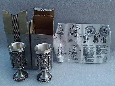 WMF pewterware cups small made in Netherlands