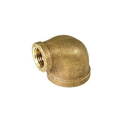 Everflow 1-1/4x1/2-Inch Lead Free 90-Degree Brass Reducing,Elbow Easy to Install