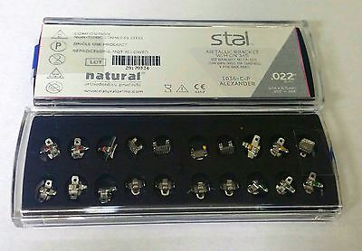 NATURAL ORTHODONTIC BRACKET Stal ALEXANDER SLOT 0.022 Hook 3/4/5 - 20 pcs