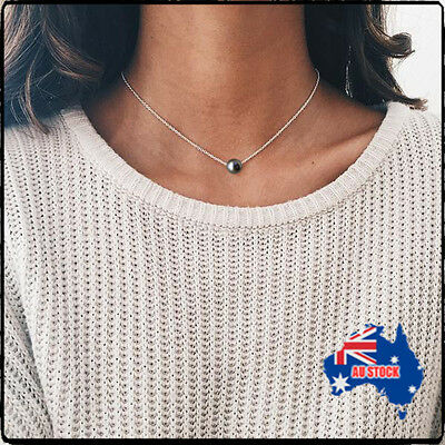 Fashion Pearl Choker Necklace 925 Sterling Silver Delicate Chain Handmade Gift