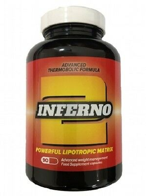 Inferno 2 Fat Burners 90 Capsules High Strength Thermogenic Fat Stripper