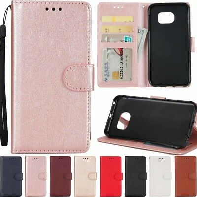 New Luxury Magnetic Leather Card Wallet Flip Case Cover For Samsung Huawei