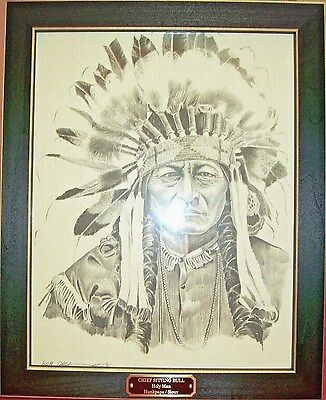American Indian / Western ~ Chief Sitting Bull (Holy Man)~ Bob Dale ~ Rare Print