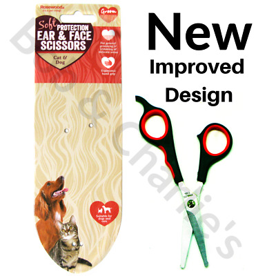 Rosewood Soft Protection Grooming Ear & Face Dog Cat Pet Safety Scissors