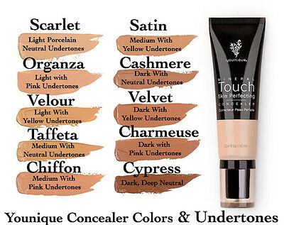 NEW Younique Touch Mineral Skin Perfecting Concealer *BRAND NEW 10ML 10 Colours
