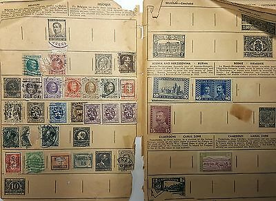 Vintage Worldwide Stamp Collection Lot. Consists of varying conditions & types
