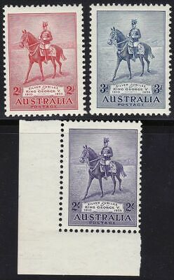 1935 AUSTRALIA - SG 156/158 set of 3  MNH/**