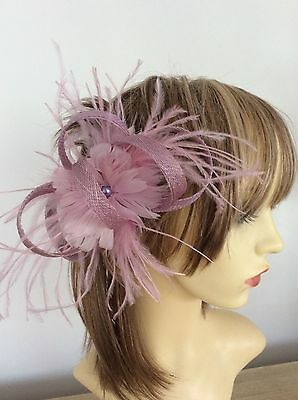 Lilac/ Pink  Fascinator   Hand Made