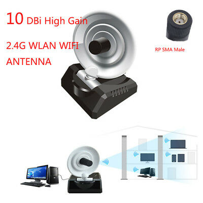For 2.4G WLAN WIFI 10DBi Gain Directional Radar Antenna RP-SMA Male 1 M Cable