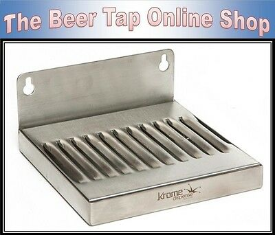 6 x 6 Stainless Steel Wall Mount Drip Tray for Kegerator - Keezer - Beer Tap