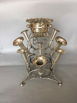 A Silver Plated EPNS Epergne- 8 Trumpets