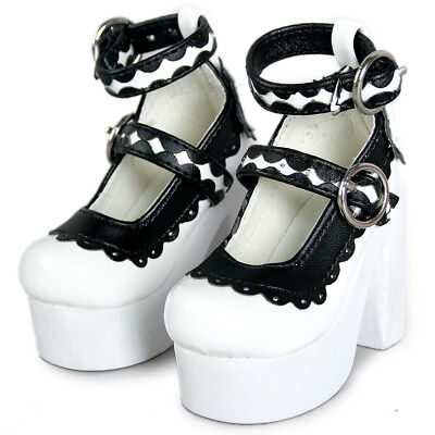 [wamami] 55# White-black High-Heels Synthenic Shoes For 1/3 SD AOD BJD Dollfie