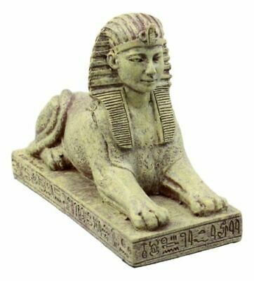 4.25 Inch Egyptian Sphinx Statue Figurine with Engravings, Multicolor