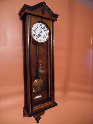 victorian single wieght vienna wall clock
