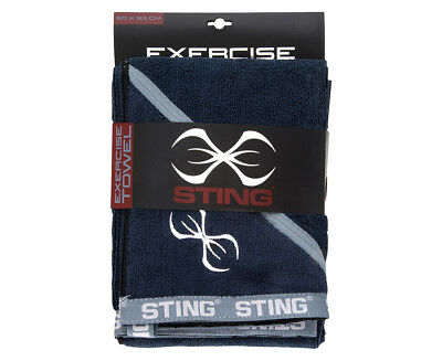 Sting Microfibre Exercise Towel - Black