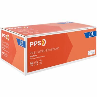 Bulk Buy - 3 x PPS Plainface C6 Envelopes White 500 Pack