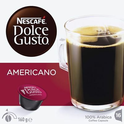 Bulk Buy - 4 x Nescafe Dolce Gusto Americano Coffee Capsules 16 Pack