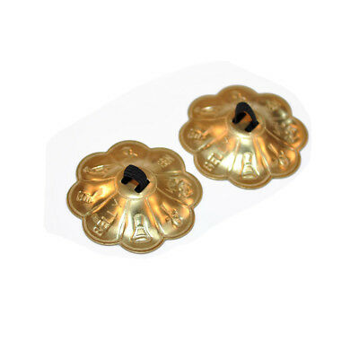 MagiDeal 2Pcs Vintage Brass Finger Cymbals Zills Belly Dancing Decoration
