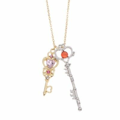 Anime Sailor Moon 25th Anniversar Key Pendant Necklace Jewelry Cosplay Gift