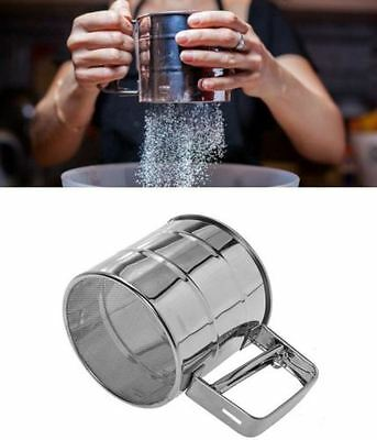 New Stainless Steel Flour Sifter Sieve Filter Baking Icing Sugar Powder Strainer
