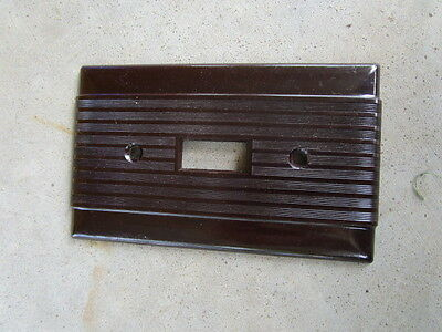 Vintage Uniline Bryant switch plate wall cover brown ribbed  Bakelite