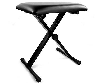 Black X Frame Adjustable Height Guitar Keyboard Bench Piano Stool Stand AU