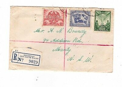 Australia 1946 Registered Peace set on FDC,cds BROADWAY NSW