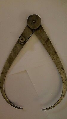 """Antique 9"""" LS Starrett Co. Lock Joint Outside Calipers Pat. Stamp May 21,1895"""