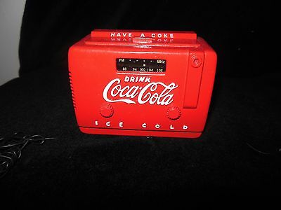Rare Collectible Coca Cola Radio Great Shape Works and Clean