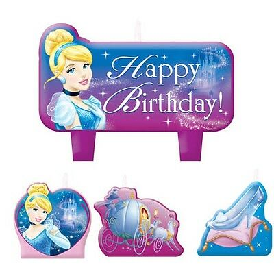 CINDERELLA 4 CANDLES Party Supplies Birthday Cake Kids Decorations CD9