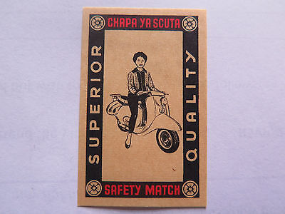 VESPA SCOOTER MATCHES MATCH BOX LABEL c1930s NORMAL SIZE MADE in AUSTRIA