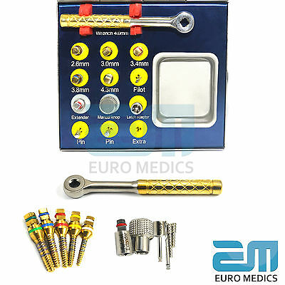 Surgical Bone Expander Sinus Lift Implant Surgery Kit With Wrench Ratchet FREE