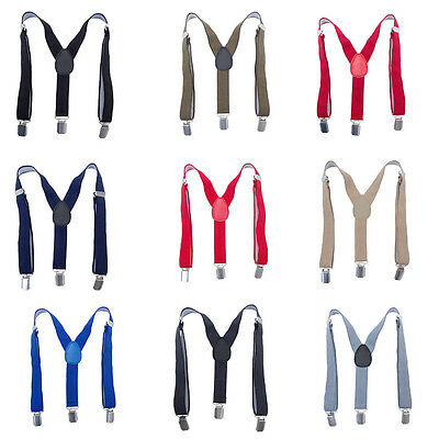 Baby Kid Boys Suspenders Braces 3Clips on Adjustable Y-Back Children Elastic