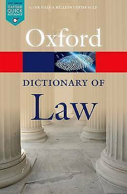 A Dictionary of Law by Oxford University Press (Paperback, 2015)